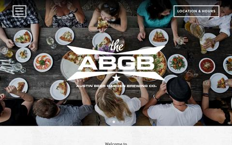 Screenshot of Home Page theabgb.com - Home - The ABGB - captured Sept. 20, 2015