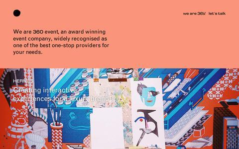 Screenshot of Home Page 360.com.gr - 360 event - visionary adaptive creative - captured Oct. 18, 2018