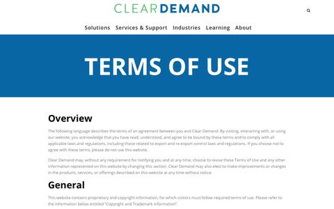 Terms of Use for Omnichannel retail leader | Clear Demand
