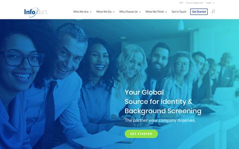 Screenshot of Home Page infomart-usa.com - Pre-Employment Screening Services | Background Screening | InfoMart - captured Oct. 11, 2018