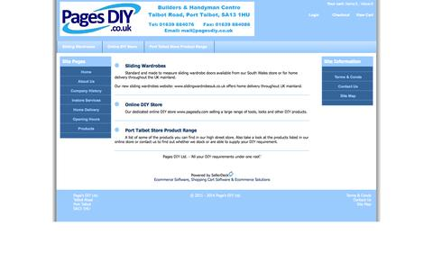 Screenshot of Login Page pagesdiy.co.uk - Product Range - Page's DIY Ltd., Port Talbot, South Wales - captured Oct. 1, 2014