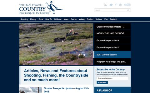 Screenshot of Blog williampowell.com - Articles, News and Features about Shooting, Fishing, the Countryside and so much more! - William Powell Country - captured Sept. 20, 2018