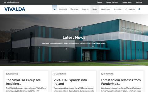 Screenshot of Press Page vivalda.co.uk - News - VIVALDA - captured Oct. 21, 2017