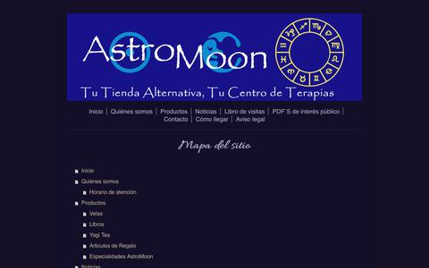 Screenshot of Site Map Page astromoon.net - Cursos y articulos para la nueva era - Astromoon Terrassa - captured July 31, 2018
