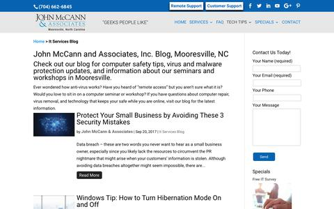 Screenshot of Blog mccannassociates.com - It Services Blog | John McCann and Associates, Inc. - captured Oct. 16, 2017