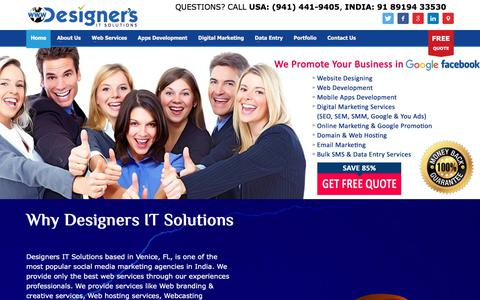 Screenshot of Home Page designersit.com - Website Design & Development - Mobile Apps - Digital Marketing Services - captured Oct. 12, 2017