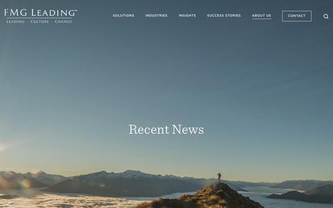 Screenshot of Press Page fmgleading.com - News — FMG Leading - Human Capital Strategy - captured Nov. 14, 2018
