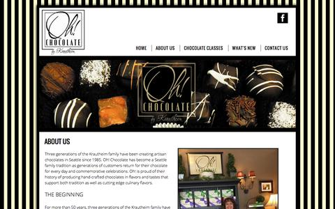 Screenshot of About Page ohchocolate.com - About Us - captured Dec. 19, 2016
