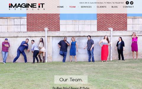 Screenshot of Team Page imagineitstudios.com - Meet Our Team, McAllen Digital Marketing Company, RGV Website Design - captured Aug. 5, 2016