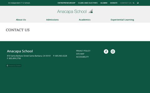 Screenshot of Contact Page anacapaschool.org - Contact Us - - captured Dec. 9, 2018