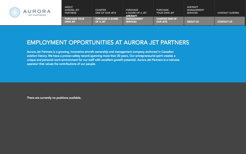 Screenshot of Jobs Page aurorajet.ca - Jobs - captured Oct. 4, 2014