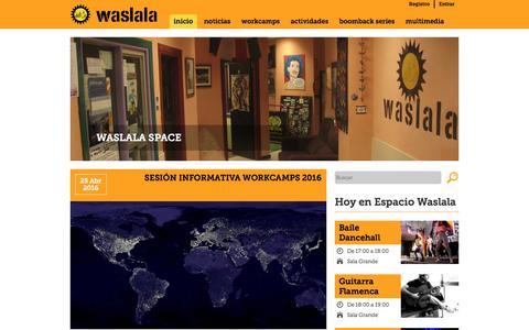 Screenshot of Home Page waslala.net - Asociación Waslala | Le damos la vuelta al mundo - captured June 3, 2016
