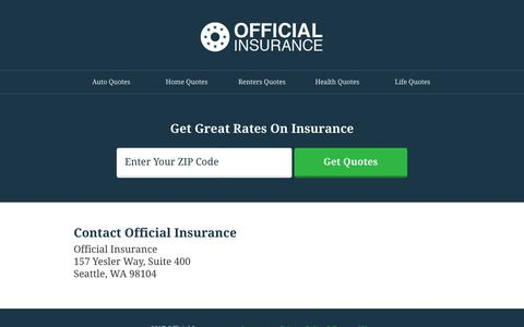 Screenshot of Contact Page official-insurance.com - Official Insurance - captured July 10, 2018