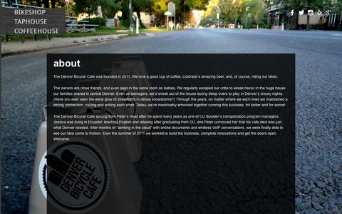 Screenshot of About Page denverbicyclecafe.com - About   Denver Bicycle Cafe - captured Sept. 30, 2014