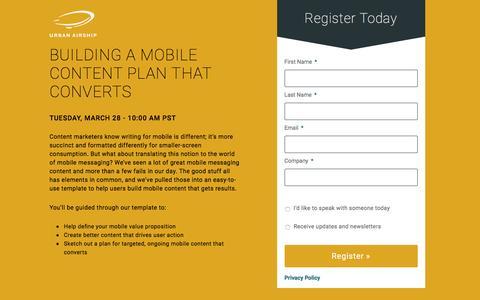 Mobile Engagement Best Practices Webinar #1 3/28/17