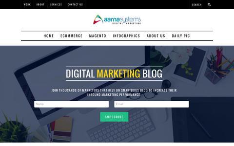 Screenshot of Blog aarnasystems.com - Digital marketing | Aarna Systems - captured Dec. 23, 2015