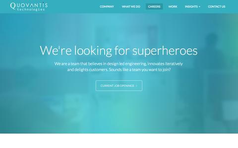 Screenshot of Jobs Page quovantis.com - Careers | Quovantis Technologies - captured Nov. 2, 2014