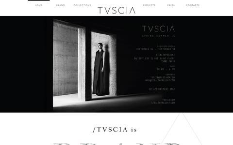 Screenshot of Home Page tvscia.com - TVSCIA - captured Sept. 30, 2014