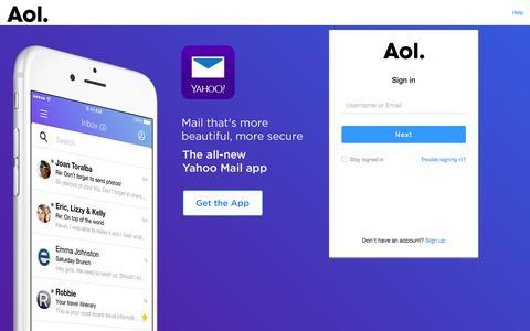 Screenshot of Services Page aol.com - AOL -login - captured Sept. 22, 2018