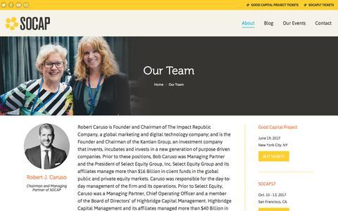 Screenshot of Team Page socialcapitalmarkets.net - Our Team   SOCAP - captured June 18, 2017
