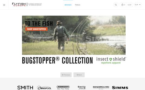 Screenshot of Home Page flyfisheurope.com - Flyfish Europe AS - captured Oct. 10, 2018