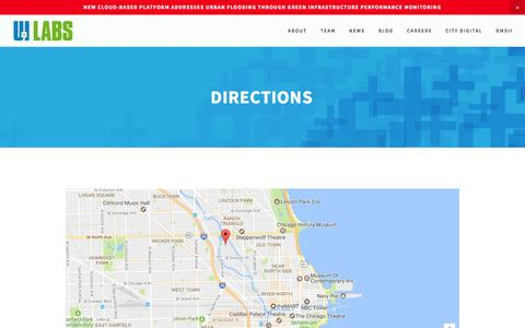 Screenshot of Maps & Directions Page uilabs.org - Directions — UI LABS - captured Dec. 9, 2016
