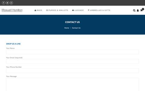 Screenshot of Contact Page maxwellhamilton.co.uk - Contact Us  – Maxwell Hamilton - captured Nov. 6, 2018