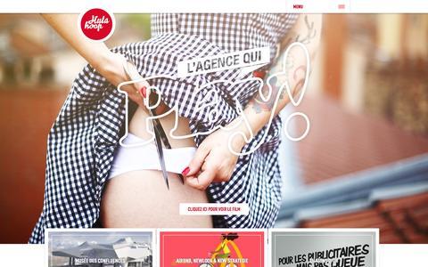 Screenshot of Home Page hula-hoop.fr - agence de communication Lyon I Paris | Hula-Hoop - captured Sept. 19, 2014