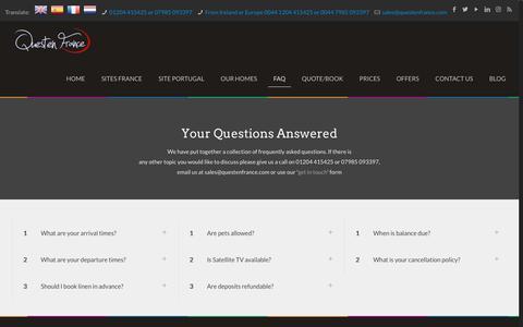 Screenshot of FAQ Page questenfrance.com - FAQ - Questen France - captured Oct. 21, 2018