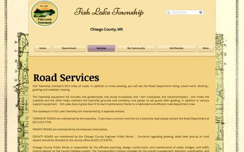 Screenshot of Services Page fishlaketownship.org - Fish Lake Township Chisago County, MN - captured April 24, 2017