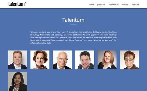 Screenshot of Team Page talentum.ch - Team - captured Dec. 3, 2016