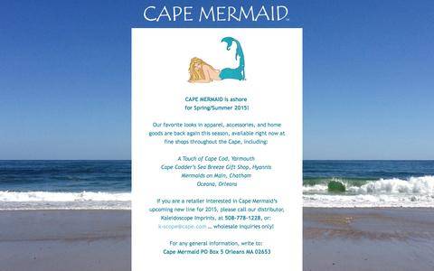 Screenshot of Home Page capemermaid.com - The Mermaids are on vacation... - captured July 18, 2015