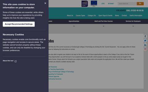 Screenshot of Jobs Page farn-ct.ac.uk - Jobs - Farnborough College of Technology - captured Oct. 10, 2018