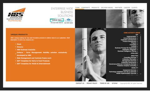Screenshot of Products Page hbsind.com - HBS - captured Jan. 21, 2016