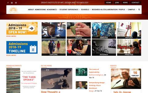Welcome | Srishti Institute of Art, Design and Technology