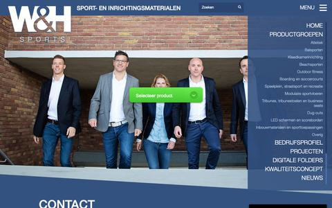 Screenshot of Contact Page whsports.nl - Contact - W&H Sports | Your goal is our sport! - captured Oct. 18, 2018