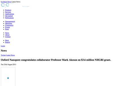 Oxford Nanopore congratulates collaborator Professor Mark Akeson on $3.6 million NHGRI grant.