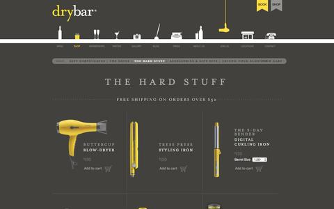 Screenshot of Products Page thedrybar.com - Drybar Hair Styling Tools - The Hard Stuff - captured June 9, 2016