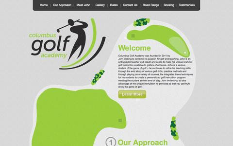 Screenshot of Home Page columbusgolfacademy.com - Welcome to Columbus Golf Academy :: Golfing Lessons :: Columbus Ohio - captured Sept. 30, 2014