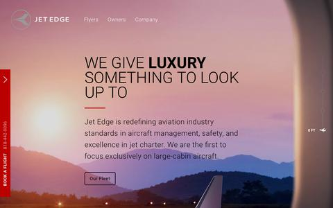 Screenshot of Home Page flyjetedge.com - Jet Edge - captured July 5, 2017