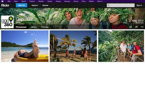 Screenshot of Flickr Page flickr.com - Flickr: gap360's Photostream - captured Oct. 22, 2014