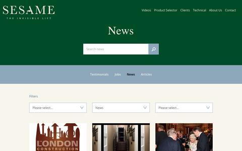 Screenshot of Press Page sesameaccess.com - News - captured Oct. 18, 2018