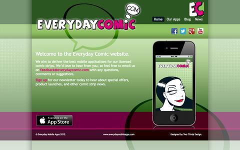 Screenshot of Home Page everydaycomic.com - Everyday Comic - captured Jan. 27, 2015