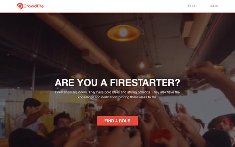 Screenshot of Jobs Page crowdfireapp.com - Careers at Crowdfire - captured March 31, 2016