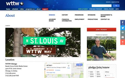 Screenshot of Maps & Directions Page wttw.com - Location | WTTW Chicago Public Media - Television and Interactive - captured Dec. 3, 2016