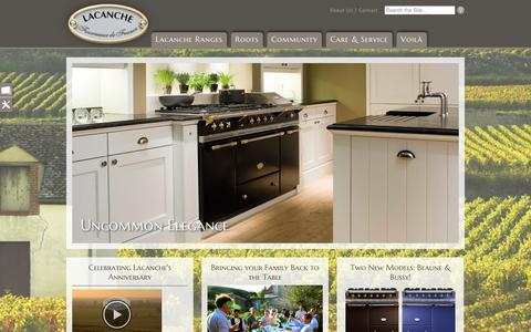 Screenshot of Home Page frenchranges.com - Home page of Art Culinaire - Lacanche USA - captured Oct. 4, 2014