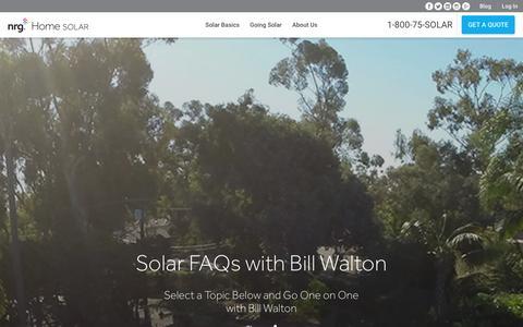 Screenshot of FAQ Page nrghomesolar.com - FAQs – NRG Home Solar - captured Jan. 28, 2016
