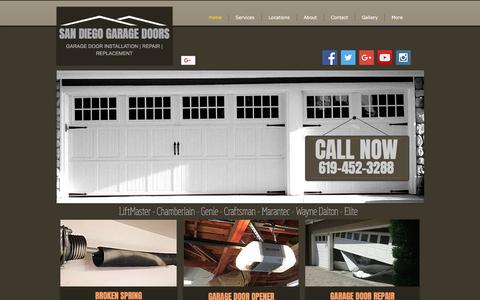 Screenshot of Home Page san-diego-garage-doors.com - San Diego Garage Door Repair | Install | San Diego, CA - captured Oct. 29, 2017