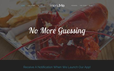 Screenshot of Signup Page Team Page menu.me - menuMe - captured Oct. 27, 2014