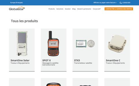 Screenshot of Products Page globalstar.com - Products | Globalstar - captured Aug. 7, 2019